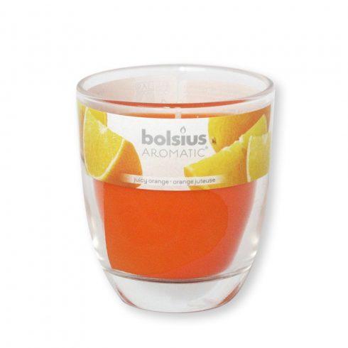 Poharas Bolsius illatmécses Narancs