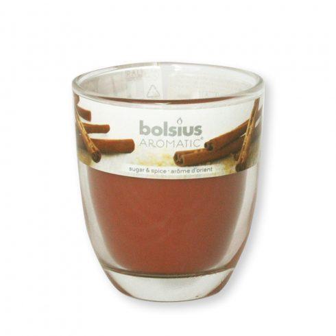 Poharas Bolsius illatmécses Mézeskalács