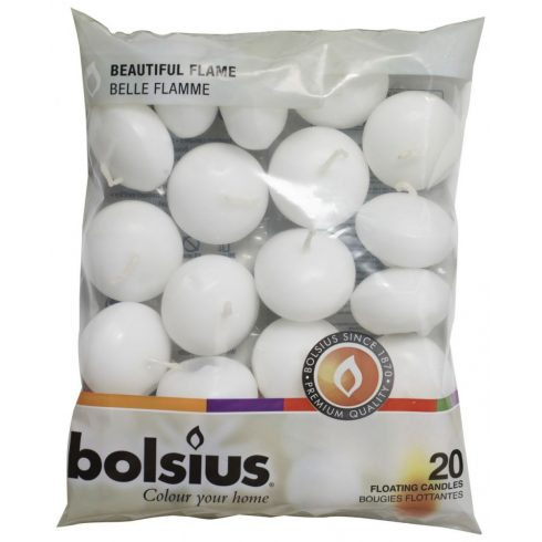 Bolsius úszó gyertya fehér 20 db
