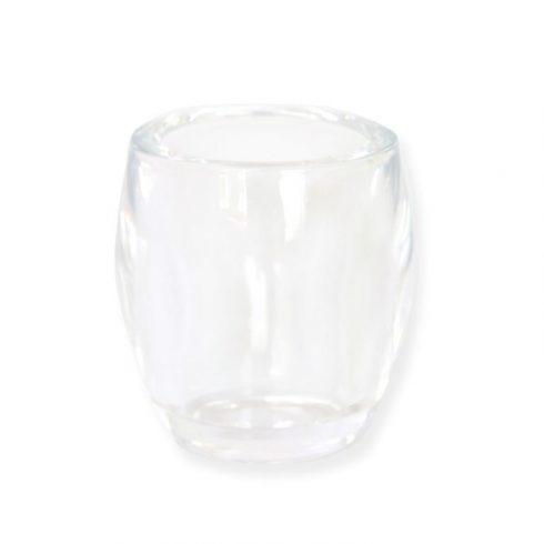 Mécses tartó pohár színtelen