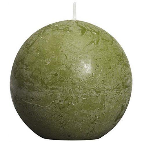 Bolsius rusztikus gömb gyertya oliva