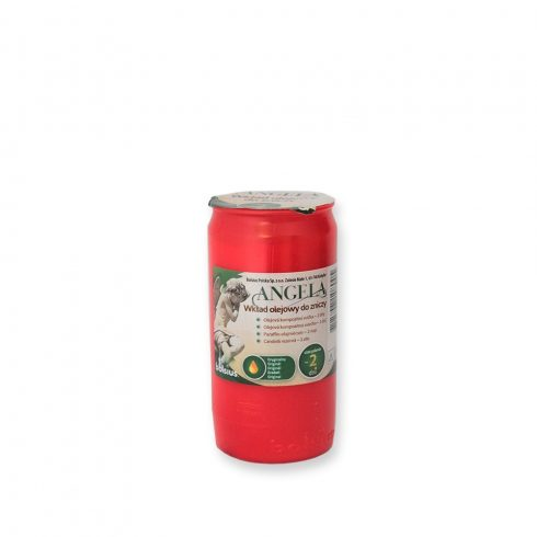 Olaj mécses Angela 2D piros