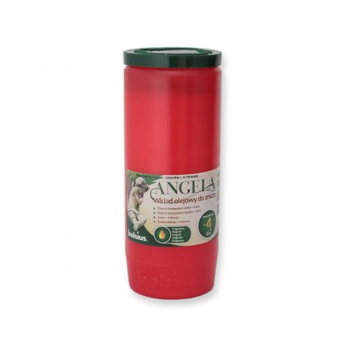 Olaj mécses Angela 4D piros