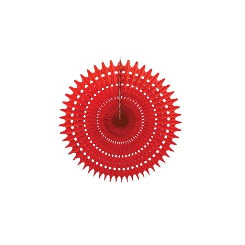 Legyező  Dekoráció Piros 25 cm