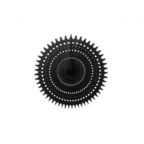 Legyező  Dekoráció Fekete 25 cm