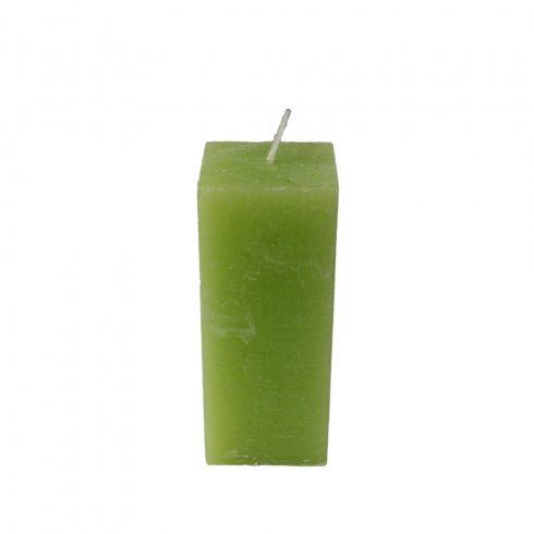 Rusztikus Hasáb Gyertya Medium Zöld