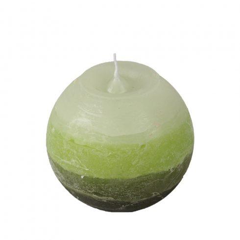 Réteges Gömb Gyertya Zöld 8 cm