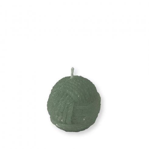 Gombolyag gyertya mini zöld