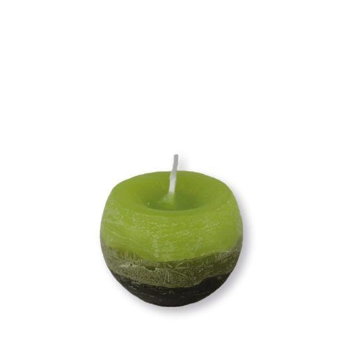 Réteges Gömb Gyertya Zöld 6 cm