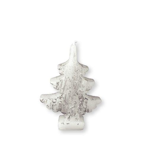 Karácsonyfa gyertya fehér-ezüst