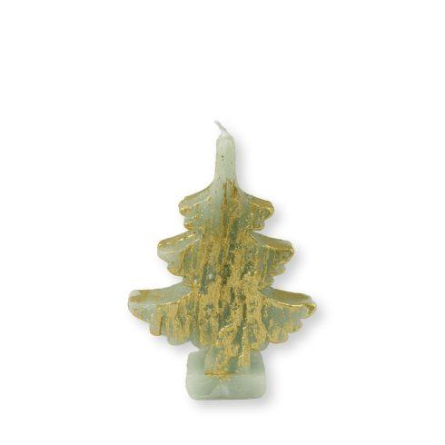 Karácsonyfa gyertya arany-zöld