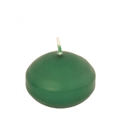 Úszógyertya sötét zöld 10db/csomag