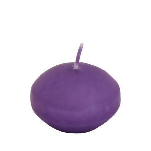 Úszógyertya lila 10db/csomag