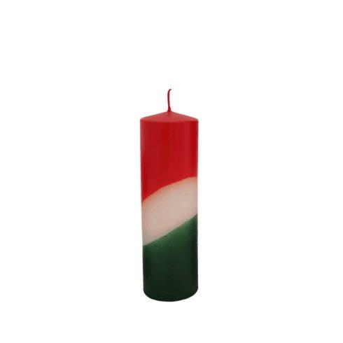Nemzeti színű henger gyertya 20 cm