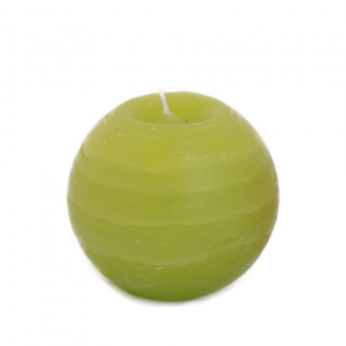 Rusztikus Gömb Gyertya Lime 8 cm
