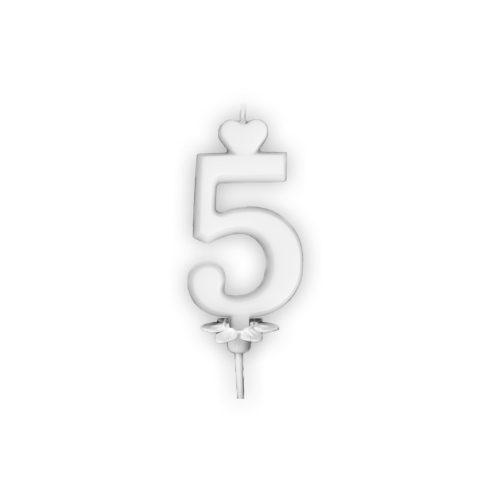Szám gyertya 6cm 5