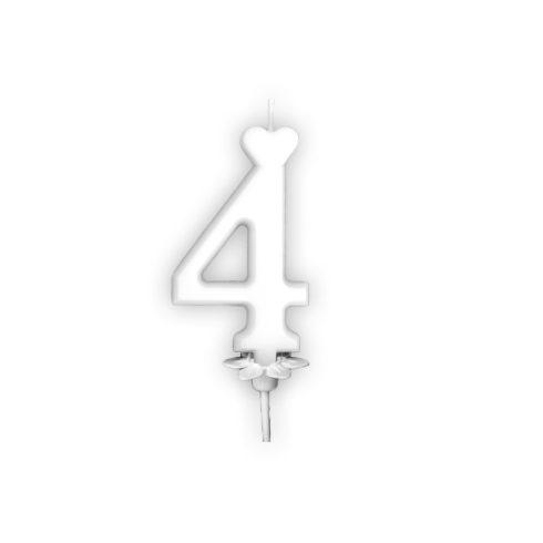 Szám gyertya 6cm 4