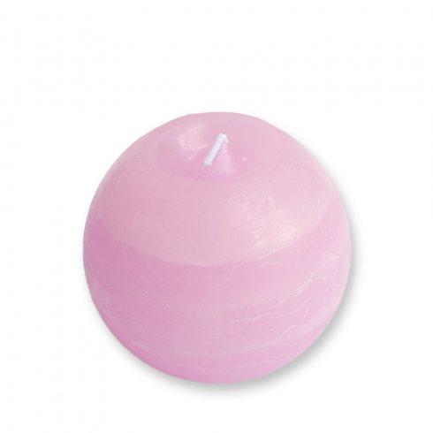 Rusztikus Gömb Gyertya Rózsaszín 8 cm