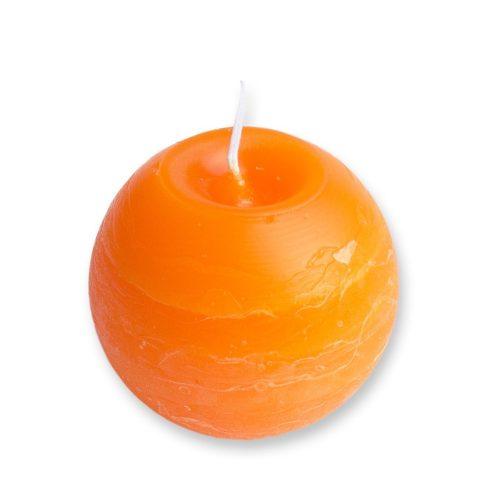 Rusztikus Gömb Gyertya Mandarin 8 cm