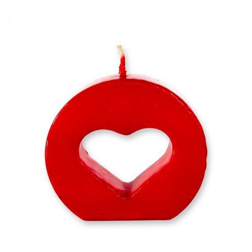 Szív alakú gyertya álló