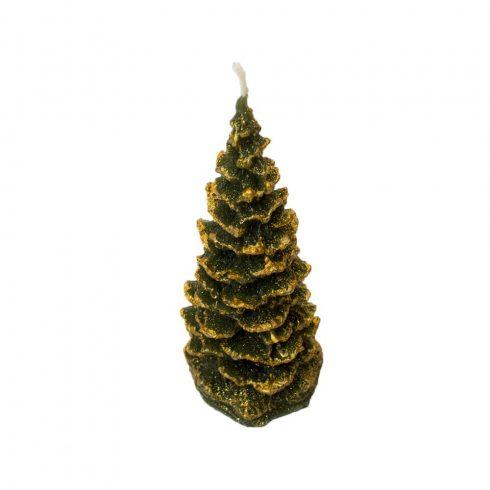 Karácsonyfa gyertya zöld