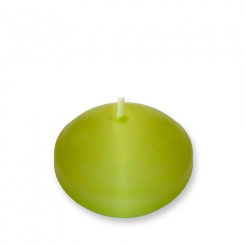 Úszógyertya   kiwi zöld 10db/csomag