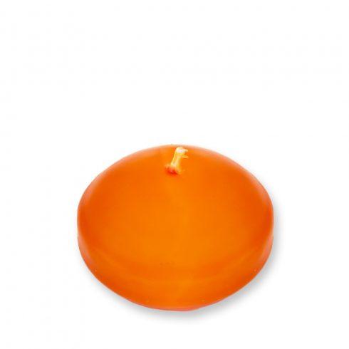 Úszógyertya narancssárga 10db/csomag