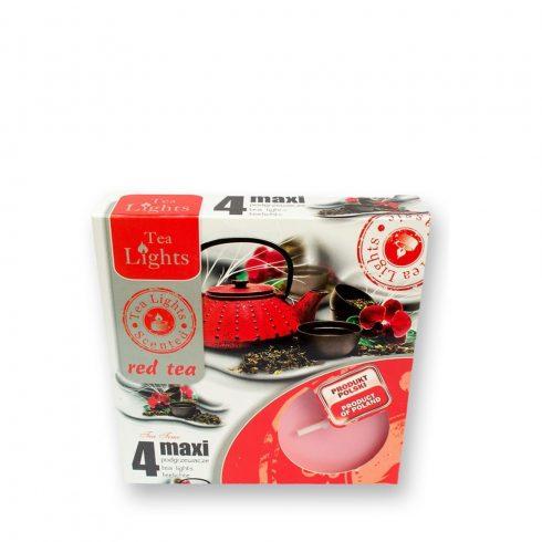 Tea mécses Maxi Vörös tea 4db