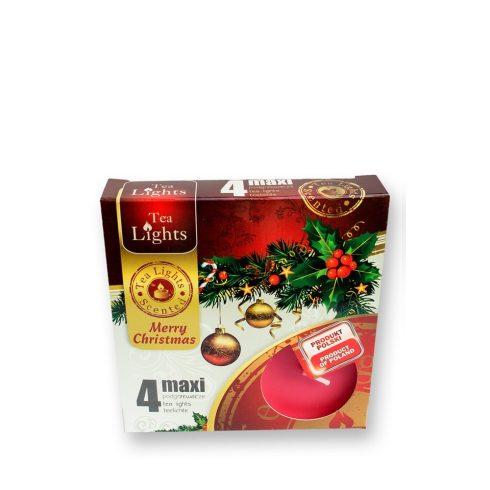 Tea mécses Maxi Karácsony 4db