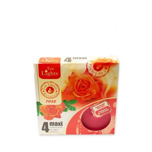 Tea mécses Maxi Rózsa 4db