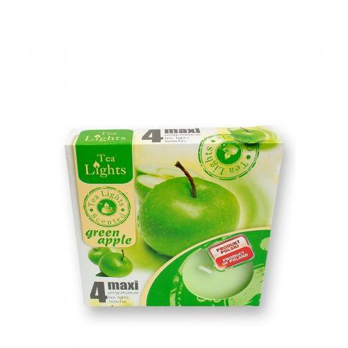 Tea mécses Maxi Zöld alma 4db