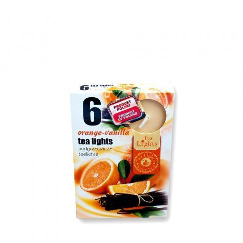 Tea mécses Narancs-vanília 6db
