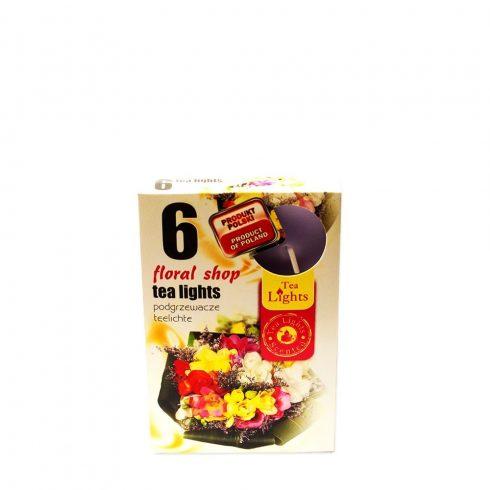 Tea mécses Virág üzlet 6db