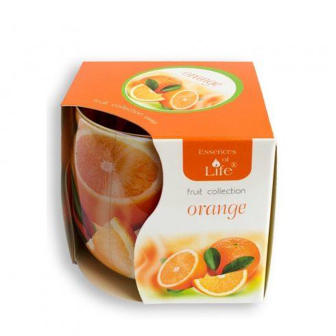 Poharas illatmécses Narancs