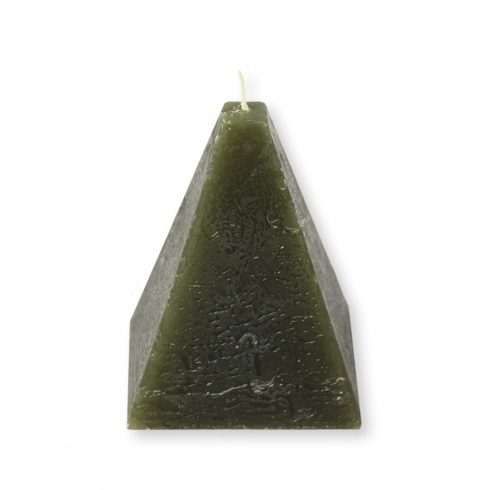 Rusztikus piramis gyertya oliva