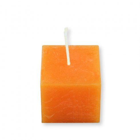 Rusztikus kocka gyertya Mandarin
