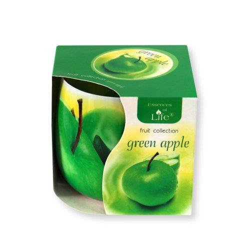 Poharas illatmécses Zöld Alma