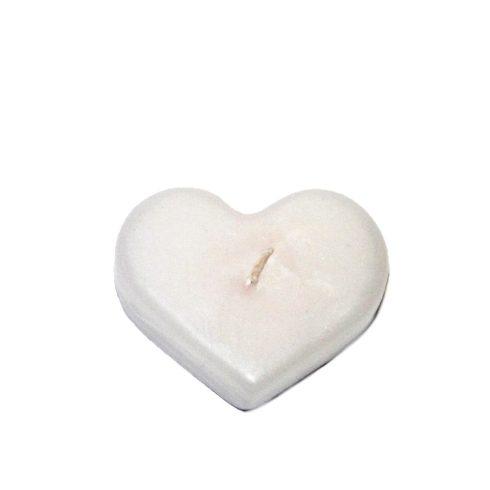 Szív alakú gyertya kicsi fehér